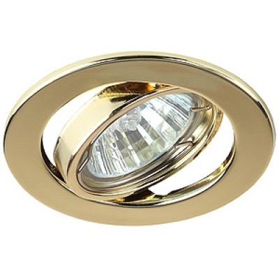 Светильник поворотный ЭРА DL98 золото MR 16