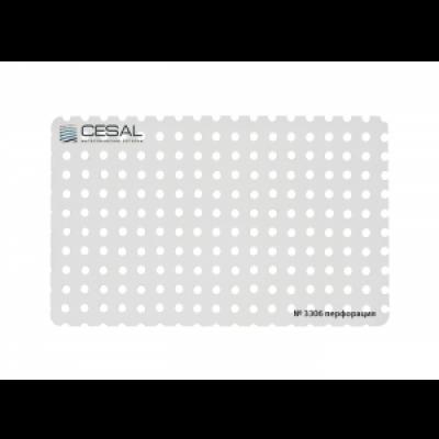Кассета 600х600 Cesal 3306 белый матовый с перфорацией d 2,0 мм с кромкой